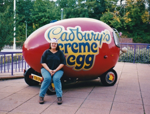 Cadbury World, England, 1997. My host was puzzled by my request to go here.