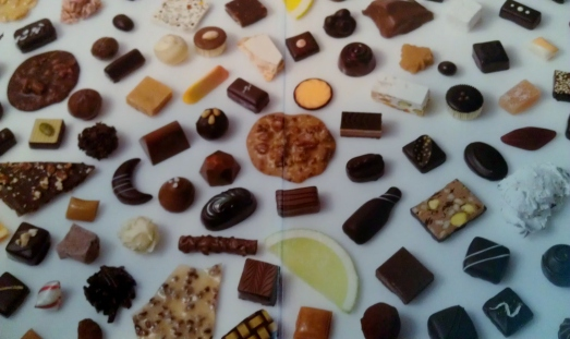 "Inside front cover of ""Chocolates and Confections"""