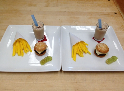 """Cheeseburger and Fries"" Dessert"