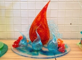 Some of the other student sugar showpieces