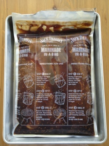 London Broil marinating in a bag