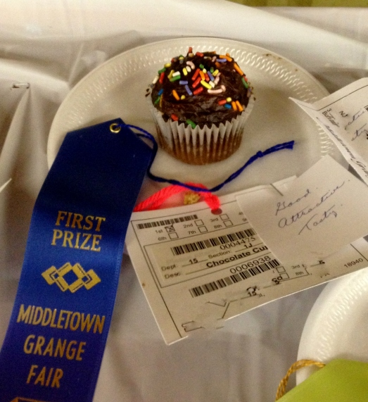 This cupcake won a blue ribbon for its taste and appearance. Appearance? Really?