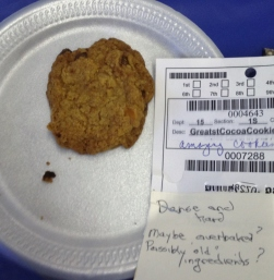 This cookie gets slammed twice: once for its taste, and then again for the freshness of its ingredients!