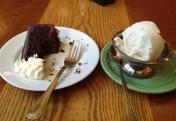 Vegan Chocolate Cake and Banana Frozen Yogurt