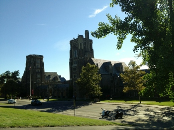 A quick drive up the hill to see the lovely Cornell University campus.