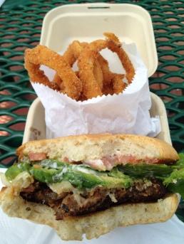 Best Black Bean Burger So Far -- Kwik Way in Oakland, CA (now closed).